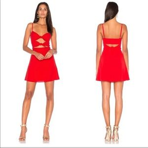 Fame and Partners x Revolve Mini Dress in Red